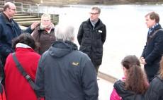 Gespräch am Heidenberger Teich