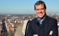 Ulf Kämpfer auf dem Rathausturm